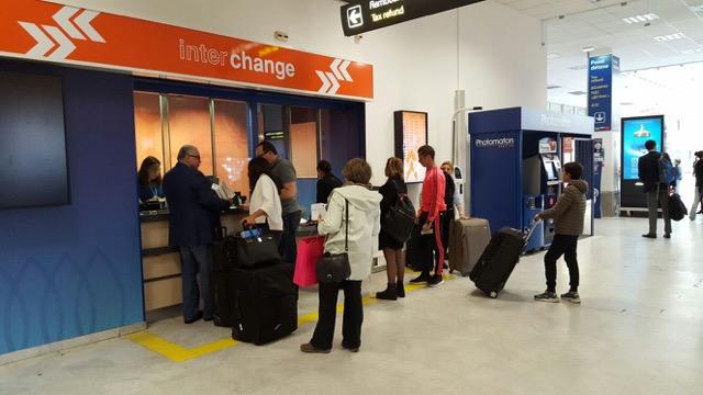 Geldwechselservice mit Interchange am Flughafen Nizza
