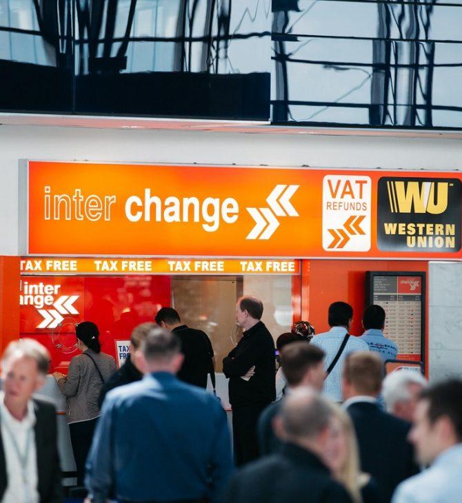 Interchange inaugure de nouvelles agences au terminal 1 à l'aéroport Vaclav Havel de Prague.