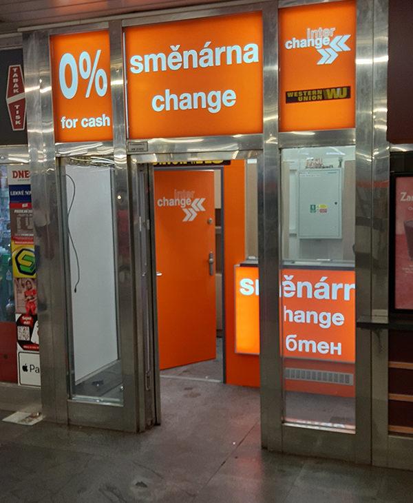 A csehországi Interchange új pénzváltó irodát nyitott a Hradčanská metróállomáson