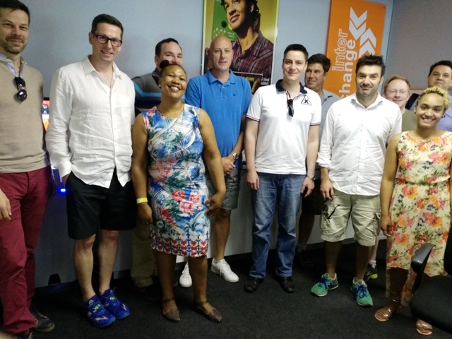 Interchange Executive visits South African operation